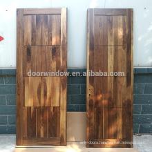 Modern popular best wood door design 4 panels black walnut room door flat solid wood doors