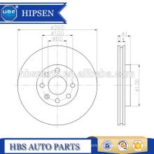 Almofada de Rotor de Freio 260mm ATE 4241.66 / 424166/4241 66 Para OPEL / SAAB / VAUXHALL