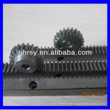 Verarbeitung Stahl Zahnstange und Ritzel
