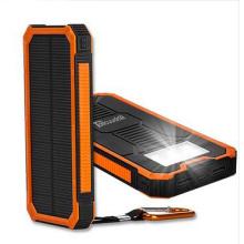 Banco móvil de la energía solar del cargador solar vendedor caliente con la luz del LED 10000mAh