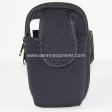 Black Comfortable Adjustable Neoprene Sports Arm bag
