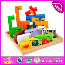 Hot New Product for 2015 Kids Toy Wooden Puzzle Game, Intelligence Toy Wooden Puzzle, Hot Sale Wooden Toy Animal Puzzle W14A109