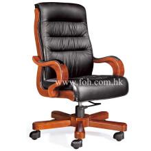 Muebles de oficina clásicos Silla ejecutiva de cuero real de alto respaldo (FOHA-79)