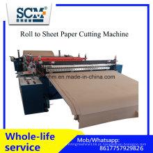 Máquina de corte do rolo à folha, máquina de corte do rolo do cartão