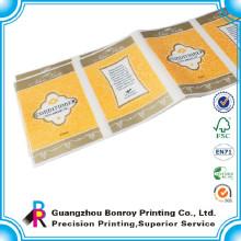 Etiqueta autoadhesiva del vinilo de la etiqueta engomada del pvc hecha en China