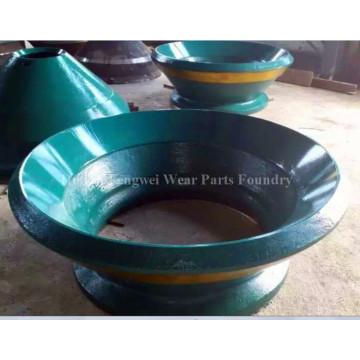 Peças trituradoras de cone de aço manganês para indústria de mineração