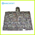 Polyester Army Camouflage Raincoat Rpy-001