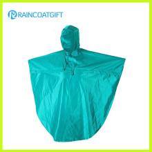 Poncho de pluie d'unité centrale de polyester de résistance à l'eau Rpy-066