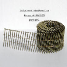2 1 / 4''x. 099 '' Wire Pallet Coil Nails Helicoidales Screw Shank