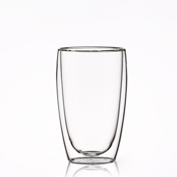 Custom Double Wall pyrex double wall glass cup