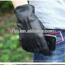 best sale black cheap mens leather gloves
