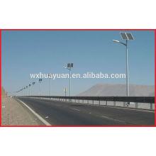 Steel solar energy lighting pole