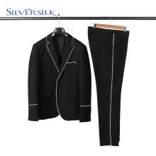 Conjunto de calças de 2 peças com blazer masculino preto