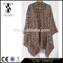 leopard printed custom printed bulk scarves wholesale cotton acrylic scarves