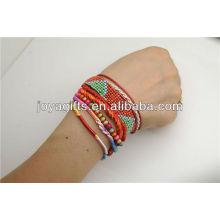 2014 pulsera bohemia tejida hecha a mano más barata