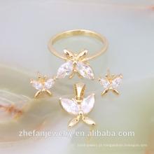 atacado jóias de casamento conjuntos de jóias de ouro branco conjuntos de jóias de ouro italiano meia conjuntos de ródio jóias é sua boa escolha