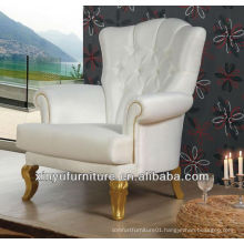 gold and white Luxury overstuffed chair XYD433