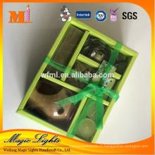 Ensemble de cadeau de bougies parfumées de cire de dispositif qui respecte l'environnement
