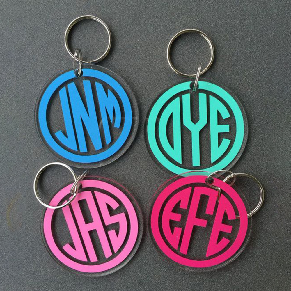 Double Sided Clear Acrylic Keyrings