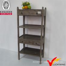 Меблированная деревянная мебель, восстановленная деревянная полка с шкафом