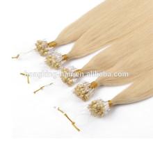 8A Grade Cheap Fashion Keratin Indian Hair Remy Micro Loop Ring Human Hair Extension for sale