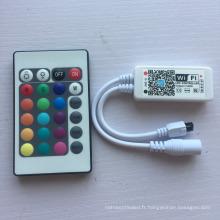 Échantillon gratuit DC5-28V 24 touches IR télécommande WiFi RGBW contrôleur avec une bonne qualité