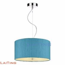 Suspension décorative moderne, tissu bleu chandelier rond 71133
