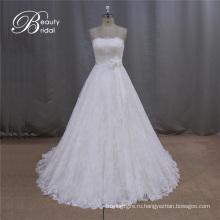 Лучшие Продажи Милая Кружева Свадебное Платье