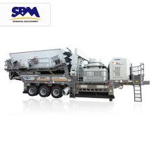 Preço razoável track mobile jaw crusher plant china