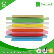 Papel de cópia de papel fotográfico colorido para escritório e uso escolar