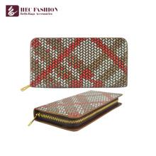HEC Marke Multi farbige Brieftasche Dame PU Leder Card Wallet