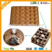 Molde popular del molde de la torta del molde del chocolate de la silicona de la Navidad