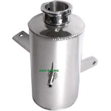 2L Auto Wasser Tank Kühler Überspannungsbehälter Silber / Schwarz Fang Dose