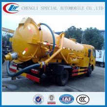 Camión de la limpieza del alcantarillado de la marca 4000liters caliente y famosa de China