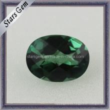 Zirconia cúbica de la forma oval esmeralda clara del precio de fábrica para la joyería