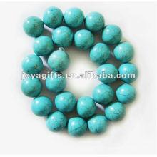 16mm granos redondos de la piedra preciosa de la turquesa