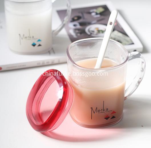 Plastic Jar Mug With Handle