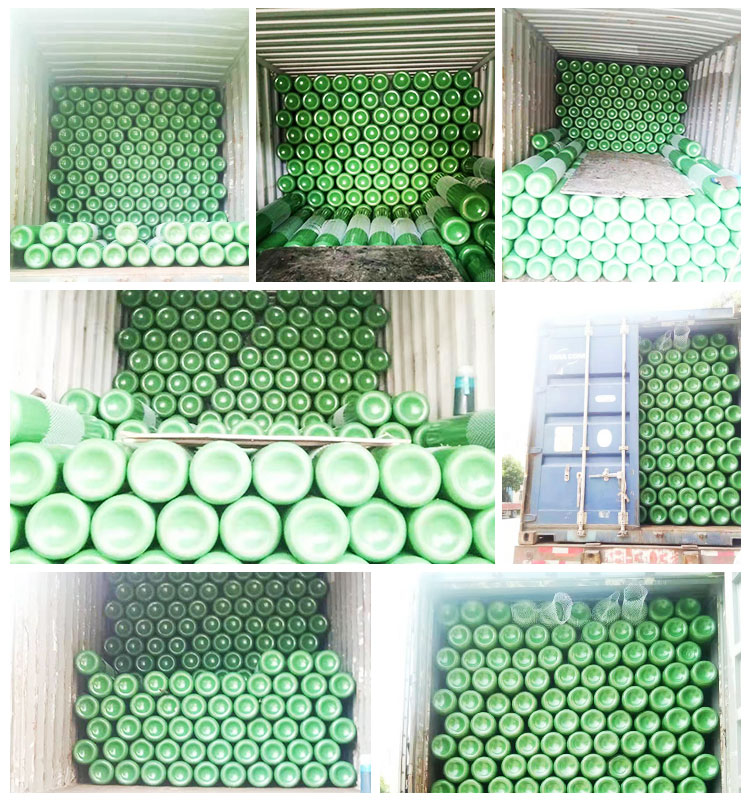 Minsheng Brand 40L Medical Oxygen Gas Cylinder export to Indonesia