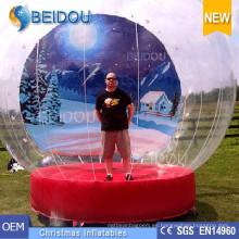 Durable PVC Gigante Foto Inflable Navidad Humano Snow Globe