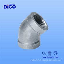 Made in China Casting SUS 304 Rohrverschraubungen 45 Degree Elbow