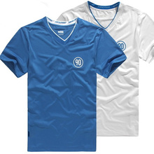 Großhandel Marke V-Ausschnitt gedruckt T-Shirt
