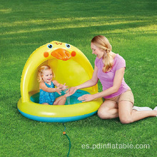 Piscina infantil Yellow Duck con sombra y aspersor