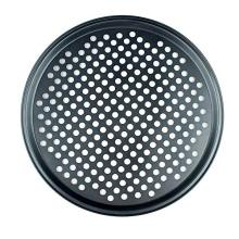 Carbon Steel Crispy Pizza Vented Pan with Holes