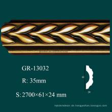 Klassische dekorative Artikel PU Krone Form Ecke Blöcke mit hoher Dichte