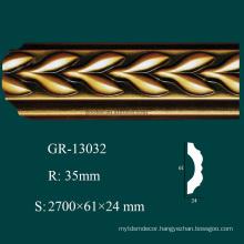 classic decorative item PU crown molding corner blocks with high density