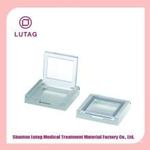 Recipiente vazio corar caso cosmético e caixa compacta caso pó