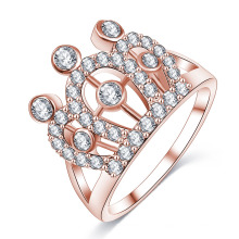 CZ Diamond Imperial Queen Crown Finger Ring (CRI01003)