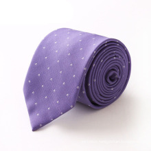 Polyester Woven Purple Neck Ties for Men