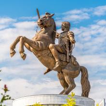 Сад украшения антикварные бронзовые скульптуры коня