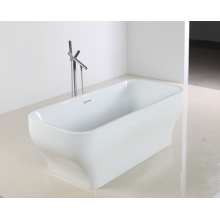 Sleek Surface Beautiful Shape Acrylic Bathtub in Freestanding Style